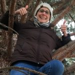 Sara Beth Wald in a tree
